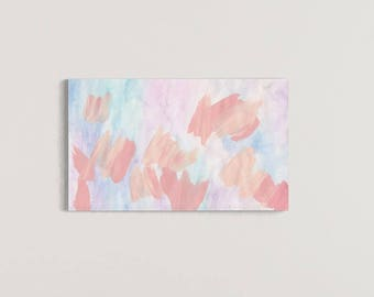 Pink Painting, Pink Canvas Art, Abstract Wall Art Print, Abstract Painting Print, Pink Abstract Painting, Abstract Nursery, Pastel Painting