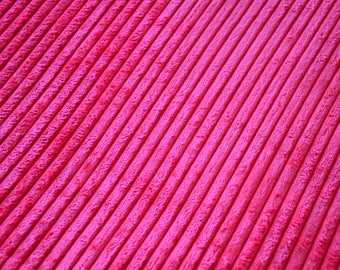 Fabric velvet thick ribs Fuchsia pink