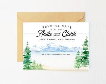 Mountain Save the Date - Lake Tahoe Wedding, Lake Wedding