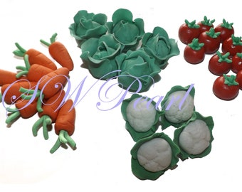 Sugar Vegetables 3D Cake Cupcake Edible Toppers Children Birthday