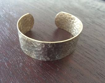 Vintage Hammered Aluminum Cuff Bracelet