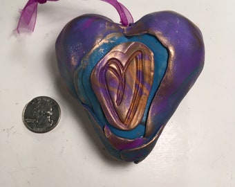 Purple and blue heart with shoe
