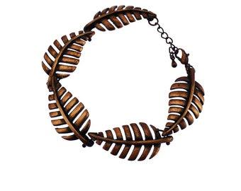 Copper Feather Bracelet, Wide Copper Bracelet, Copper Leaf Bracelet, Chunky Copper Bracelet, Copper Link Bacelet