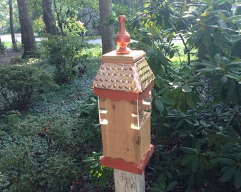 Woodpecker bird feeder woodworking plan