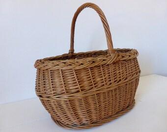 Vintage French, Market, Gathering, Basket, Home Decor