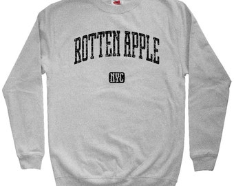 Rotten Apple NYC Sweatshirt - Men S M L XL 2x 3x - Crewneck, Gift For Men, Her, Rotten Apple Sweatshirt, Funny Sweatshirt, New York City,