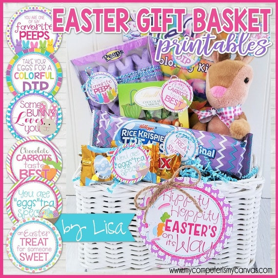 Easter basket gift tags easter gifts easter basket stuffers negle Image collections