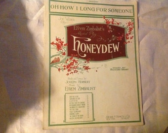"Antique 1920  Sheet Music ""Oh How I Long for Someone"" by Efrem Zimbalist"