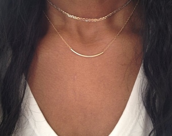 Gold Choker Necklace Silver Choker Necklace Gold Choker Chain Silver Choker Chain Dainty Choker NOW ADJUSTABLE  Birthday Gift