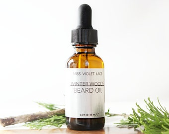 Winter Woods Beard Oil | Valentine's Gifts for Men | Conditioning Oil for Men | 100% natural and vegan - TRAVEL SIZE