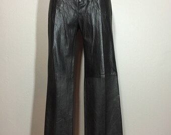Vintage 80's Roberto Cavalli High Waist Equestrian Buttery Soft Leather Pants M