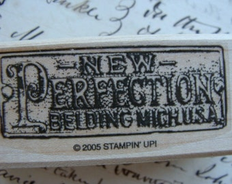Antique Script Wood Mounted Rubber Stamp Stamping Up
