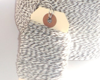Dark Brown and White Bakers Twine 100 yards