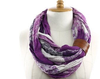 Scarf Knit Infinity Scarf, Womens Knit Winter Scarves,