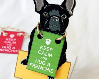 Keep Calm Black Frenchie - Desk Decor Paper Doll