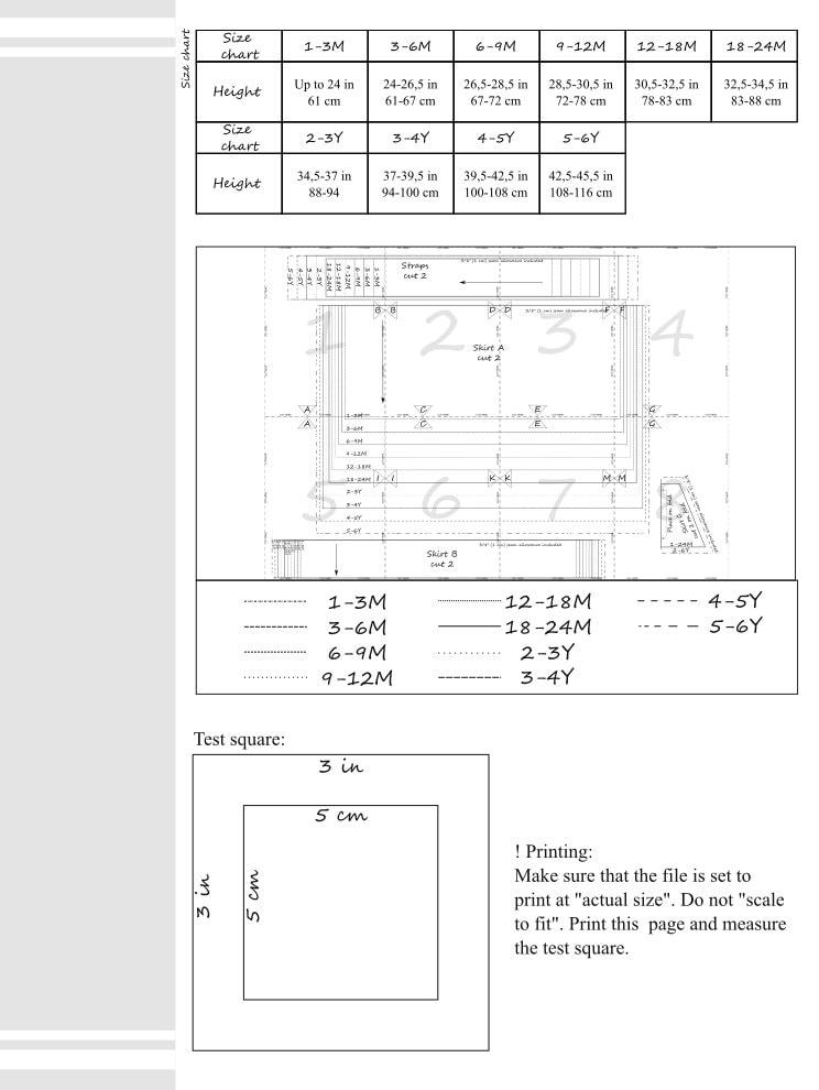 Skirt pattern PDF, baby sewing patterns, kids sewing patterns ...