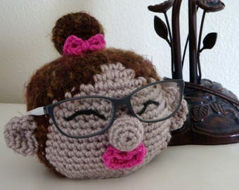 Eyeglasses Stand, Woman Glasses Stand with Bow Bun, Sunglasses Holder, Gift for Her, Birthday Present