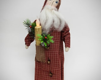 Primitive Santa | Handmade Santa | Santa doll | Primitive Country Santa | Primitive country Christmas decor | Primitive country decor |