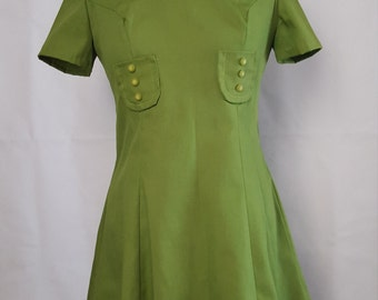 Vintage 1960s light green mini dress