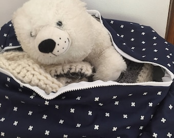 Stuffed Animal Storage Pillow (Patterned)