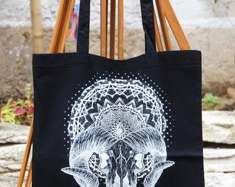 Tote Bag Black - Mandala - Beelzebub