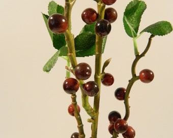 Berry Branch in Dark Red - 35'' Tall