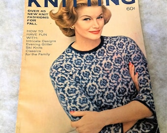 Vintage Fall Winter 1962 Vogue Knitting Book