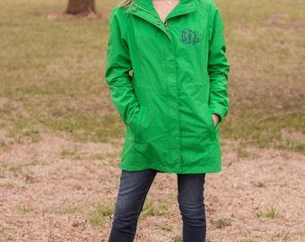 Women's Monogrammed Jacket | Logan Jacket | Fall and Spring | Hooded Rain Jacket | Monogrammed Gift | Charles River Jacket | Rain Coat