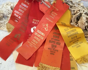 These Vintage Tattered 1960s Horse Show Ribbons Remind Me Of Skittles
