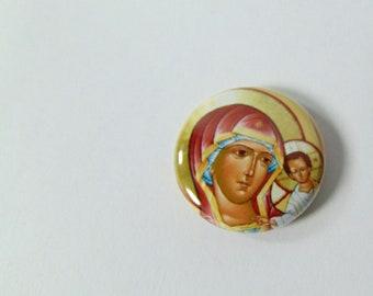 Orthodox Baptism Favors, Martyrika, Greek Orthodox Icon, Orthodox Icon, Orthodox Magnet, Favors for Orthodox Baptism, Theotokos Icon Magnet