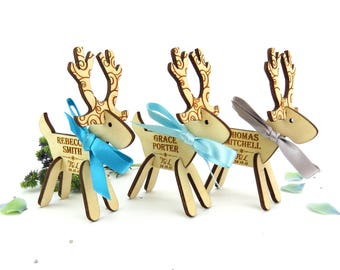 x10 Reindeer Wooden Place Setting