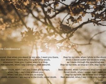 Love Confessions - original poetry