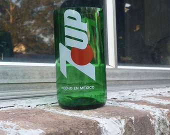 1 upcycled 7Up glass