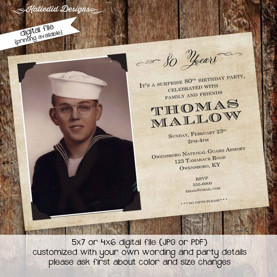 memorial announcement funeral card grandparent postcard 60th 70th 80th 75th retirement party obituary photo picture   275 Katiedid Designs