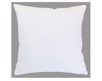White Solid Decorative Throw Pillow Cover / Pillow Case / Cushion Cover / Cotton / 20x20""
