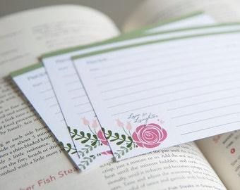 Recipe Cards - Rose Bouquet