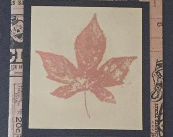 Old Newsprint Leaf