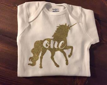 Unicorn Birthday Onesie