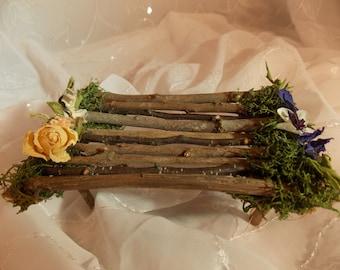 Fairy Garden Table Natural Fairy Twig Table ~ Fairy Moss Chair~-Fairy Garden Furniture