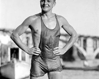 Hunky Lifeguard 1920's Photo