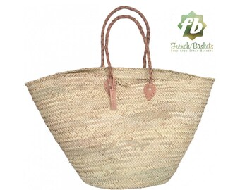 French baskets King Size : French Basket, Moroccan Basket, straw bag, french market basket, Beach Bag, straw bag