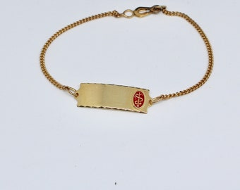 JEWELRY LIQUIDATION SALE Medic Emblem Gold Bracelet