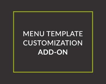 Menu Template Customization  Add-On