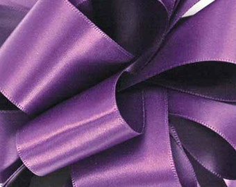 """Satin Ribbon 5/8"""" Purple Grape Double Sided, FIFTY YARD ROLL -  Offray  """"Grape"""" No. 3 Double Face Satin  dfs #463, Wedding Ribbon"""