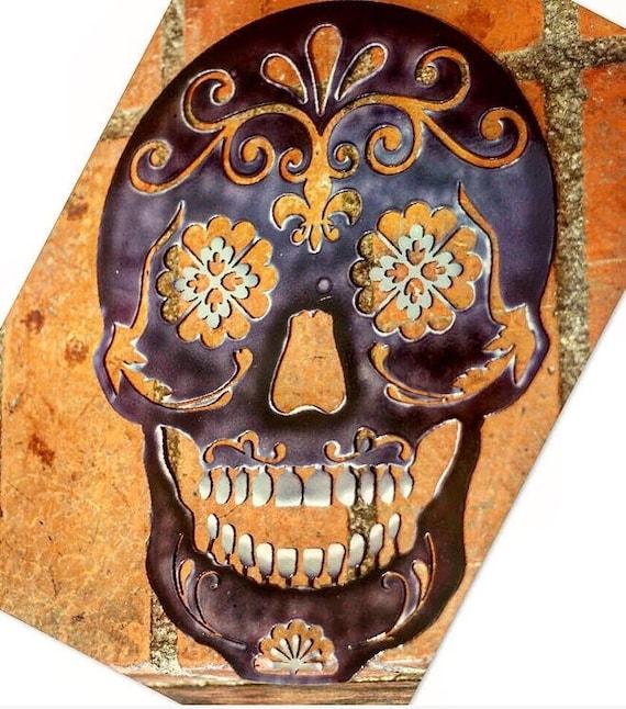 Sugar Skull Day Of The Dead Skull Metal Skull Metal Art