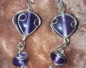 Light purple dangle earrings