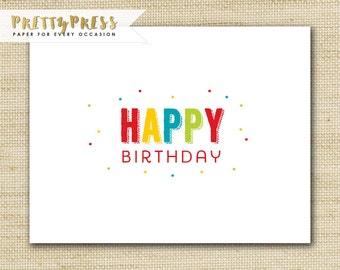 Kids Folded Greeting Cards - Birthday Cards Build A Pack - HAND GLITTERED Eco-Friendly Folded Birthday Cards