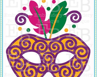 Mardi Gras Mask SVG - This design is to be used on an electronic cutting machine. Instant Download
