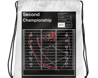 Ravens Football Drawstring Bag: Second Championship (2013)