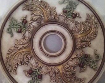 "Ceiling Medallion, 23"" handpainted ceiling medallion"